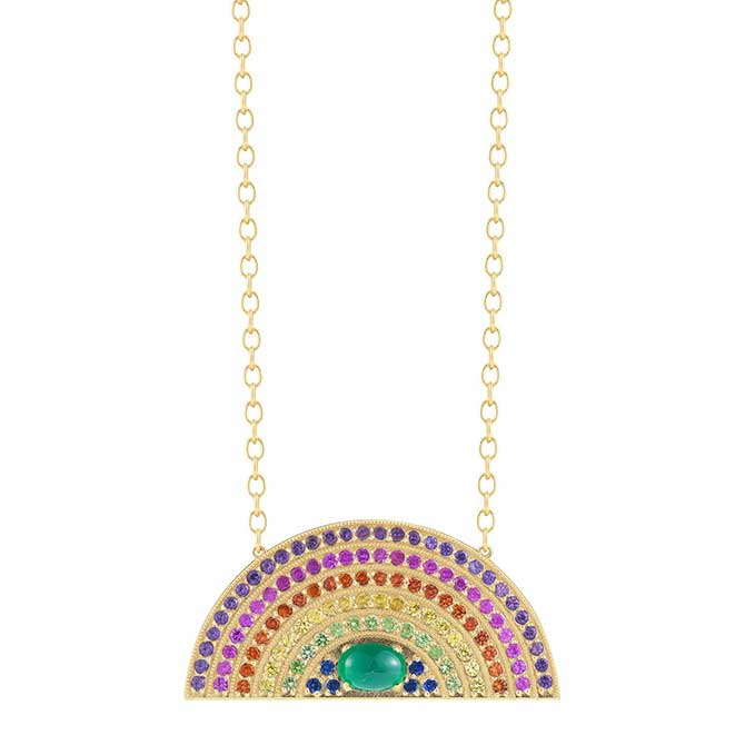 Andrea Fohrman rainbow necklace