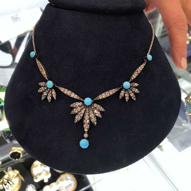 Beneficial Estate Buyers Victorian turquoise necklace
