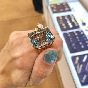 Beneficial Estate Buyers aquamarine ring