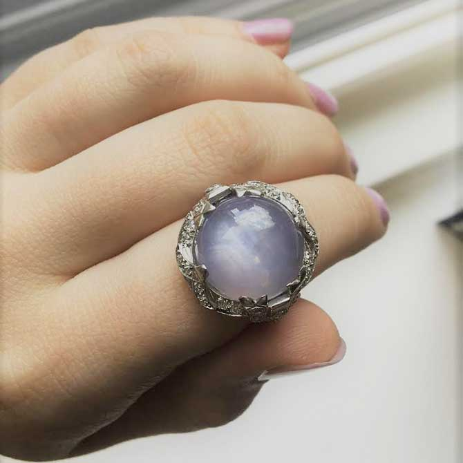 Beneficial Estate Jewelers star sapphire ring