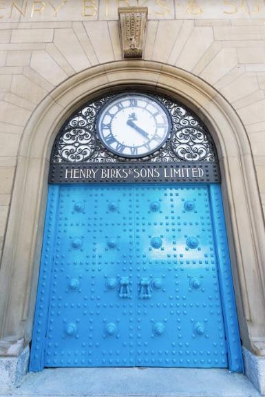 Birks Montreal door