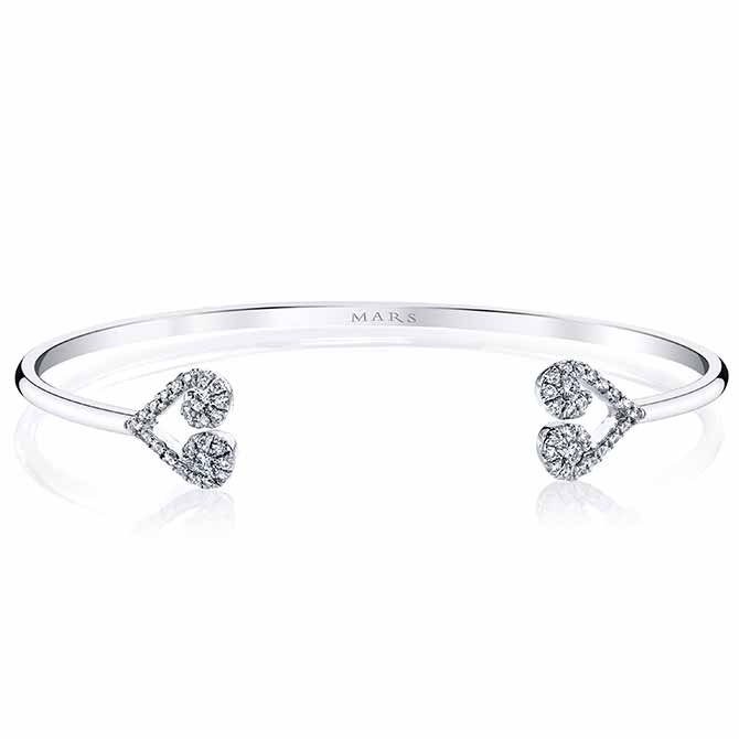 Mars diamond heart bracelet