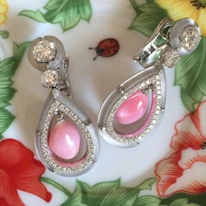 Carlo Barberis conch pearl earrings