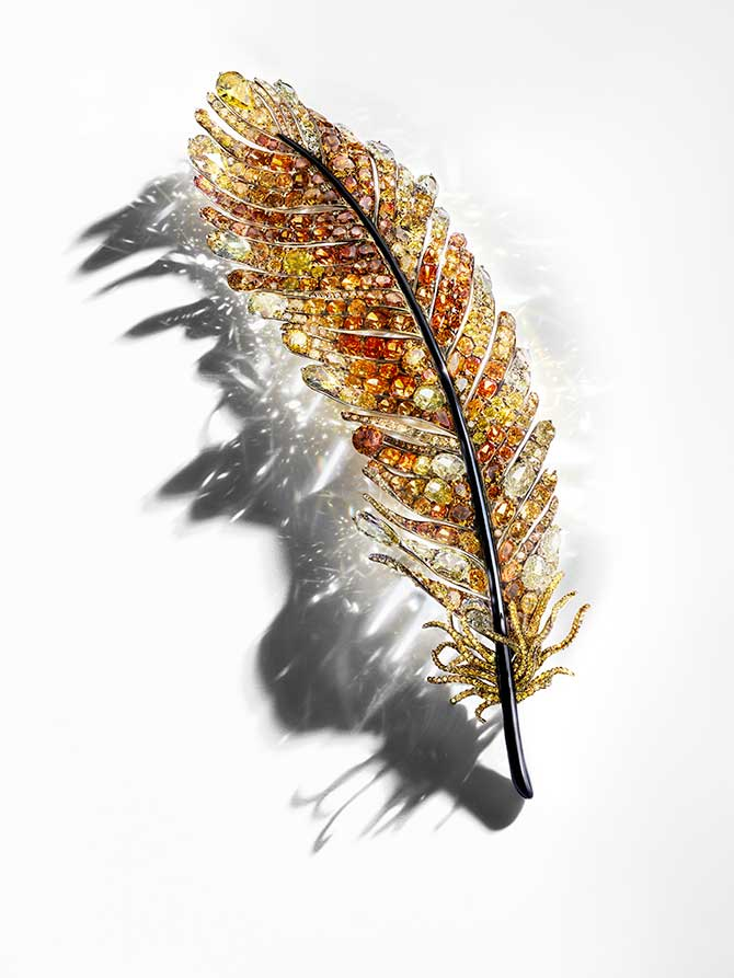 Cindy Chao Black Label feather brooch