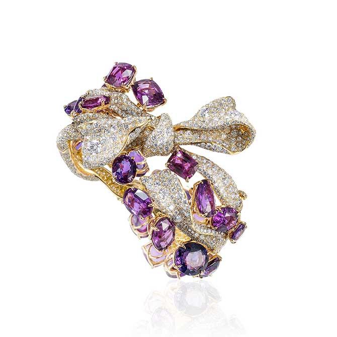 Cindy Chao purple sapphire ribbon bracelet