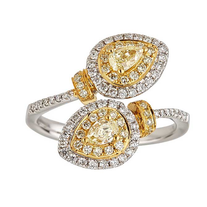 Diamond bypass ring Cirari