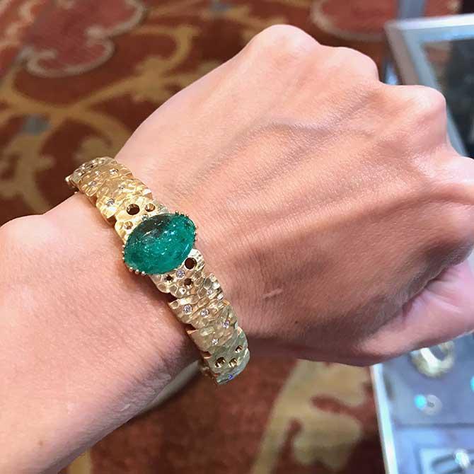Dana Bronfman emerald bracelet