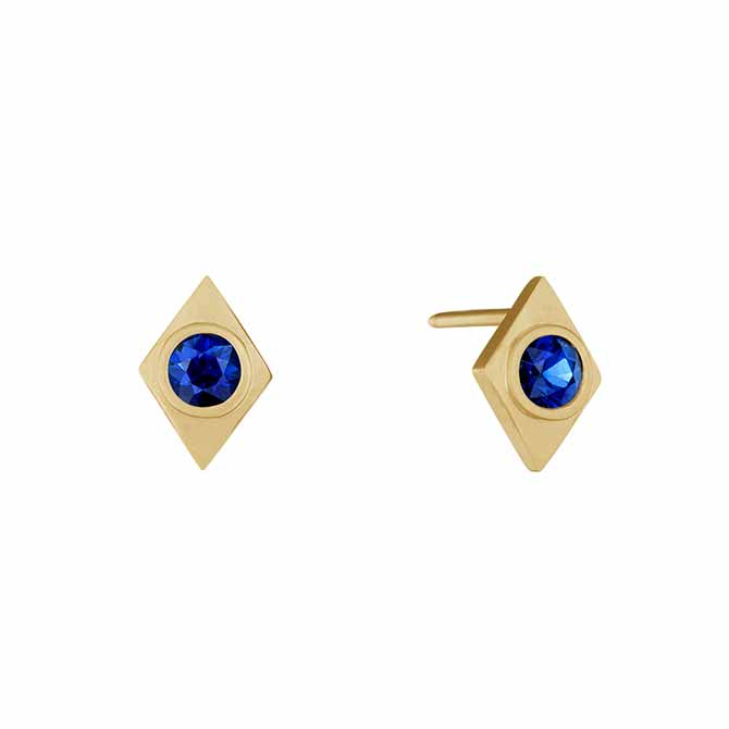 Doryn Wallach sapphire Kite earrings