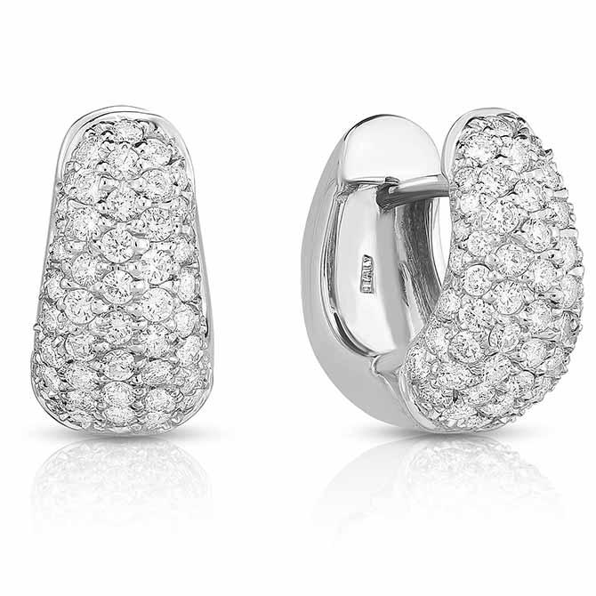 Roberto Coin diamond huggie earrings