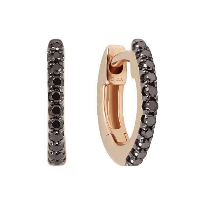 Djula black diamond earrings