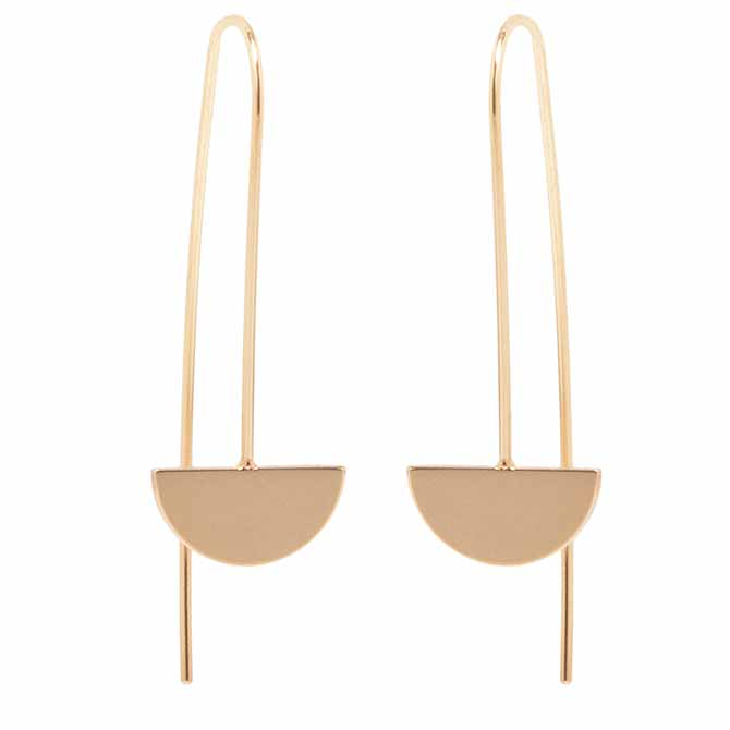 Zoe Chicco small Horizon wire earrings