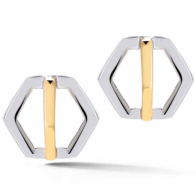 W Britt Hexagon dangling earrings