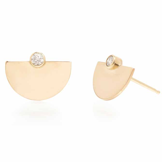 Zoe Chicco Small Horizon stud earrings