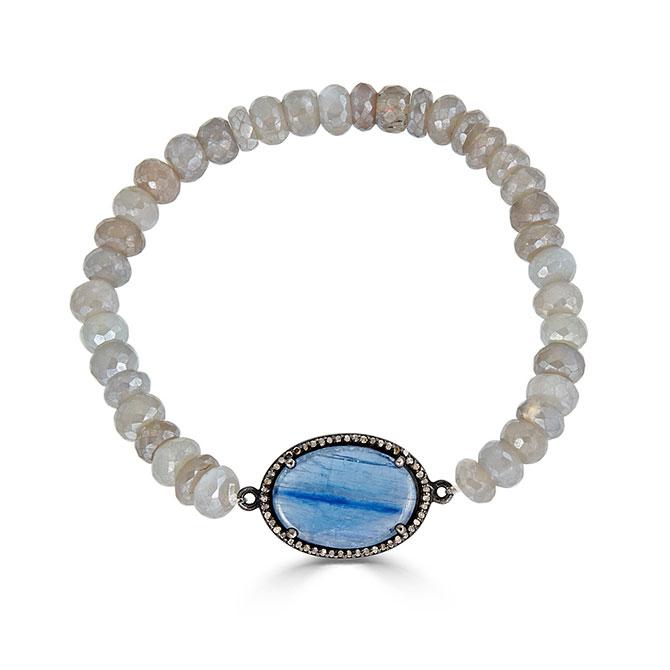 Elizabeth Moore kyanite and labradorite bracelet