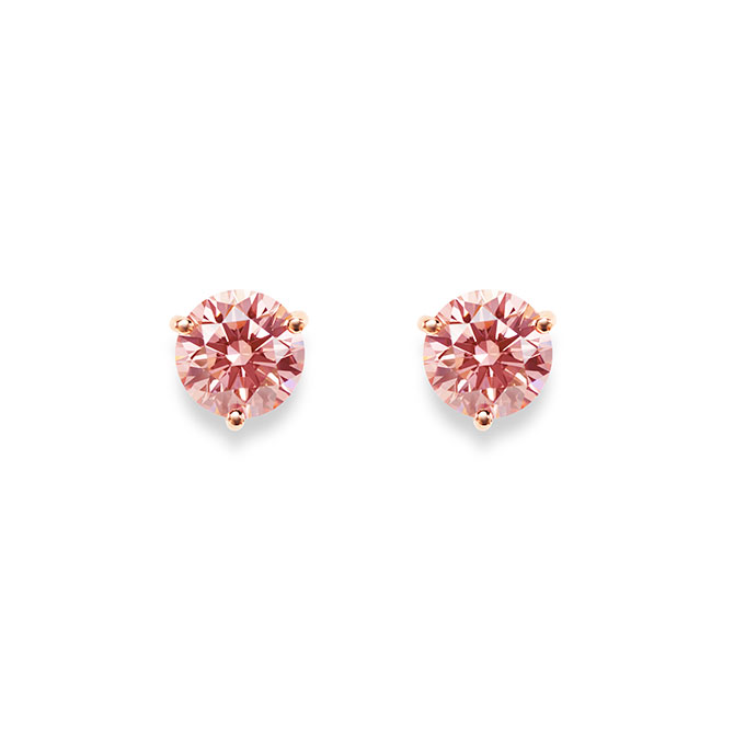Lightbox pink lab-grown diamond studs