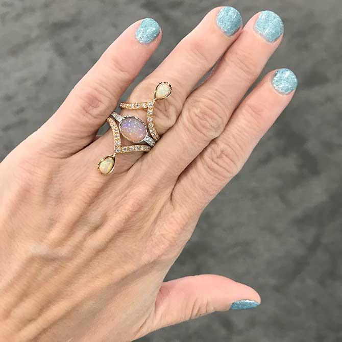 M Spalten opal rings