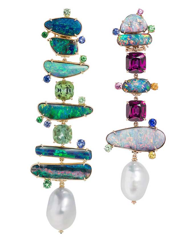 Margot McKinney mismatched earrings