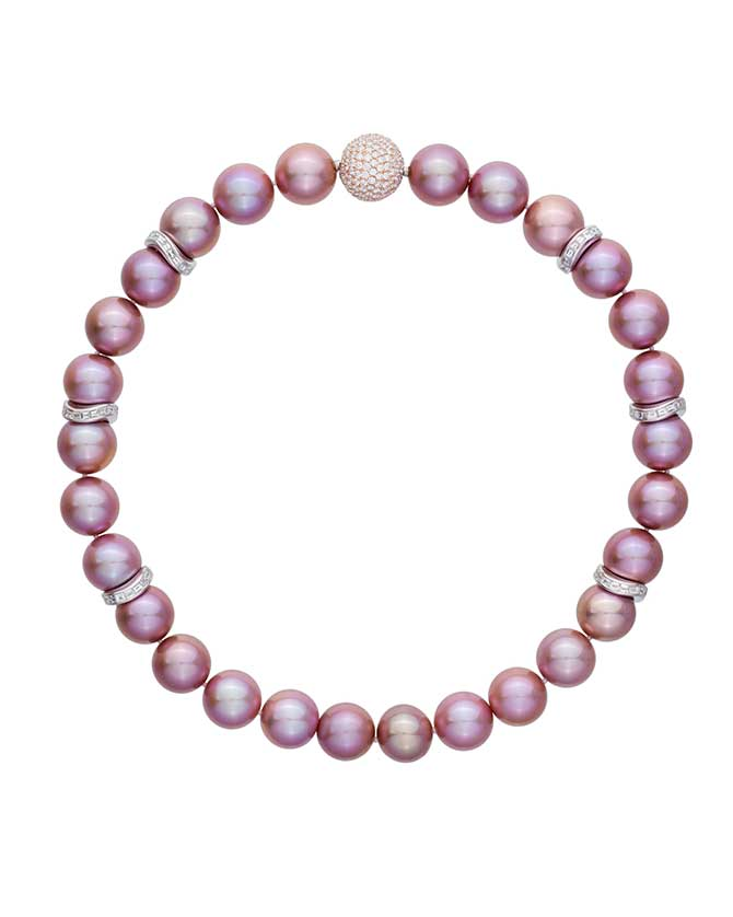 Margot McKinney pink pearl necklace