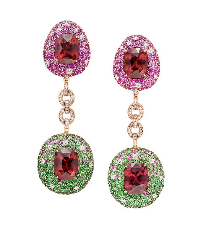 Margot McKinney red zircon earrings