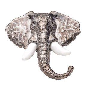 Misahara silver elephant ring