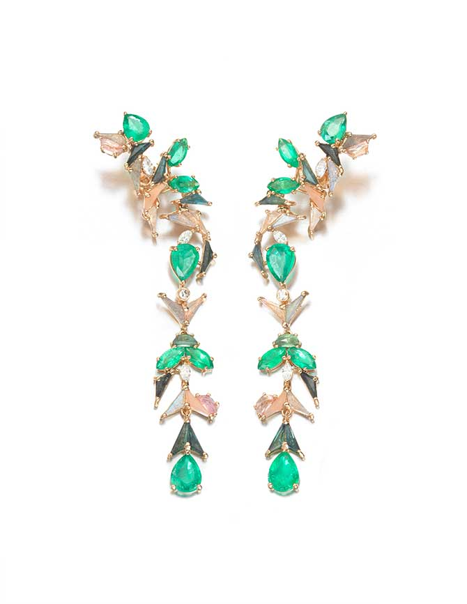 Nak Armstrong x Gemfields emerald earrings