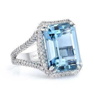 Omi Prive aquamarine ring
