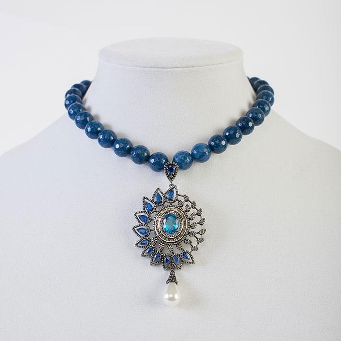 Pam Eisner kyanite and blue topaz pendant