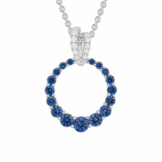 Artistry Ltd sapphire wreath pendant