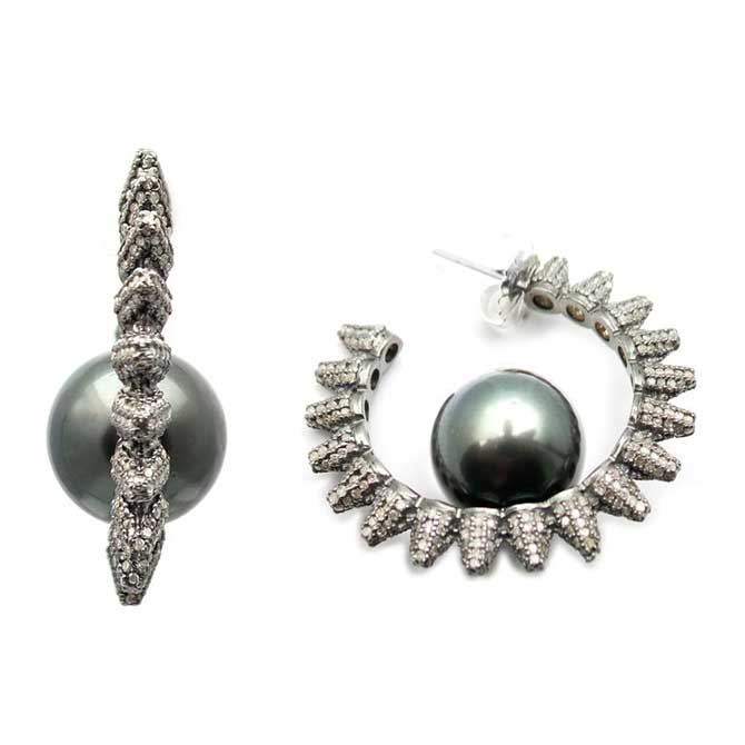 Samira 13 pearl earrings