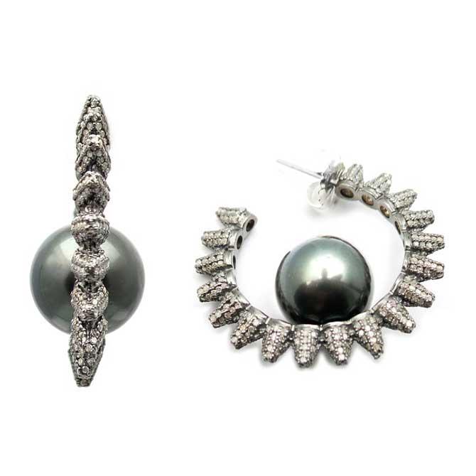 Samira 13 pearl earrings