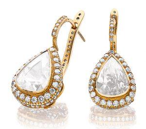 Sanjay royal diamond drop earrings