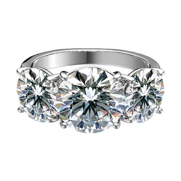 Sasha Primak three stone diamond ring