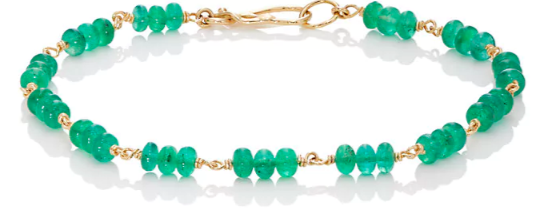 Dean Harris emerald and gold bracelet