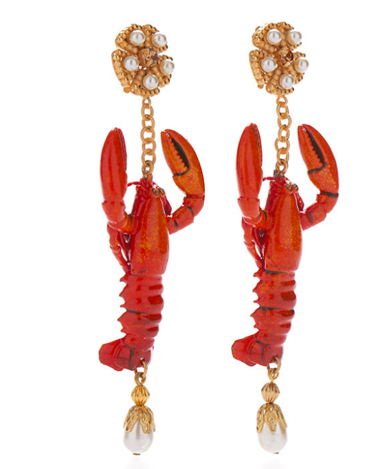 Dolce and Gabbana lobster earrings