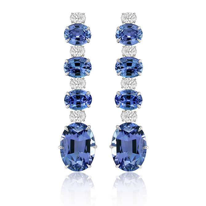 Sutra tanzanite earrings