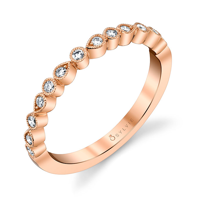 Sylvie Collection stackable 18k rose gold ring