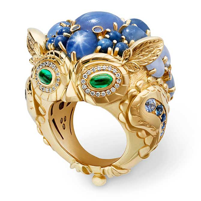 Temple St Clair Athena owl ring