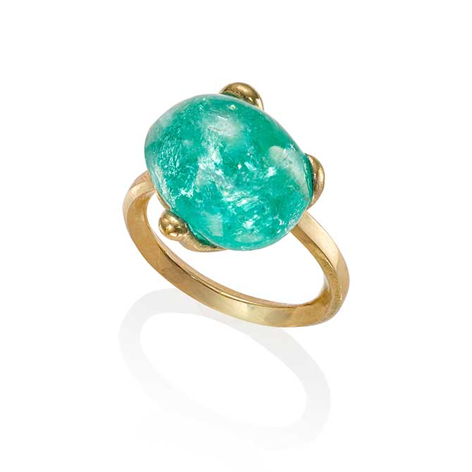 The Rock Hound Muzo emerald ring