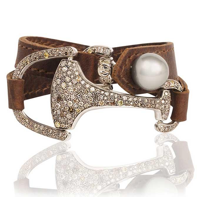 Vincent Peach pearl bracelet