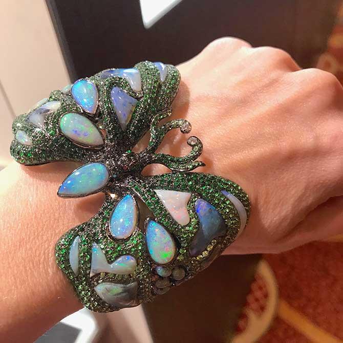 Wendy Yue opal butterfly bracelet