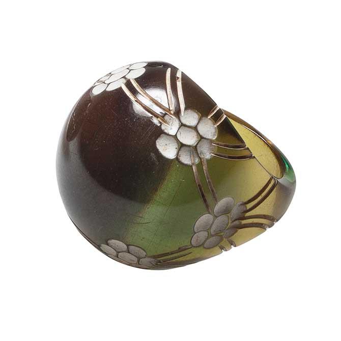 1930s Lalique Fleurs bis ring musee Lalique
