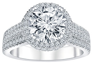ALTR created diamonds engagement ring