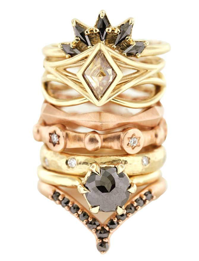 Aimee Kennedy ring stack