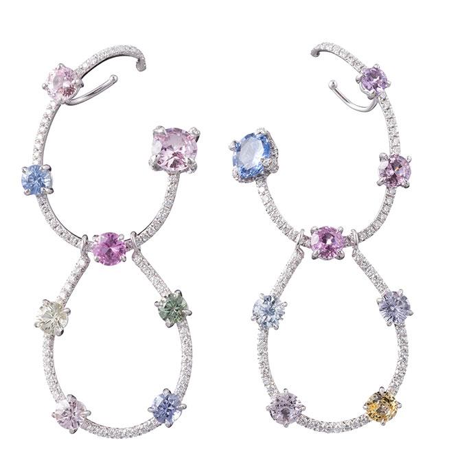 Ana Khouri sapphire, tourmaline and diamond earrings