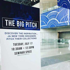 Big Pitch sign at JANY 2018 Javits Center