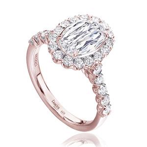Christopher Designs rose gold engagement ring
