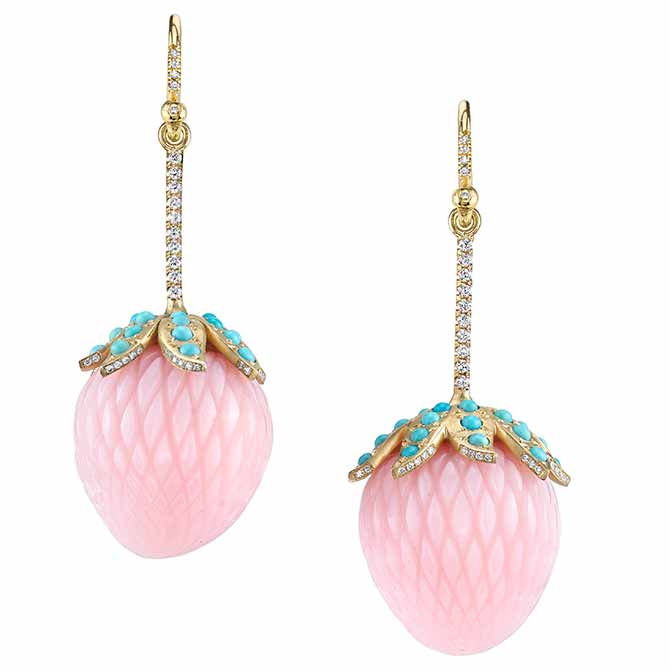 Irene Neuwirth opal strawberry earrings