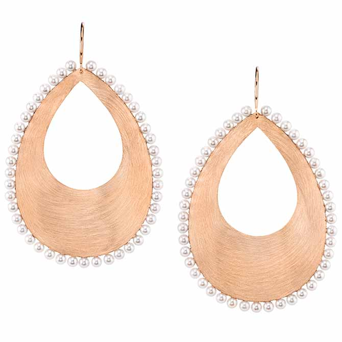 Irene Neuwirth rose gold pearl earrings