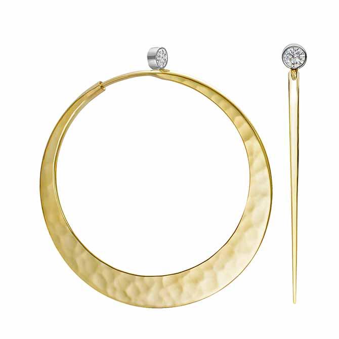 Toby Pomeroy Eclipse hoop earrings