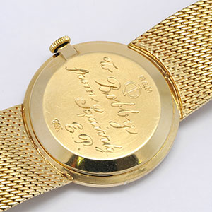 Elvis watch inscription